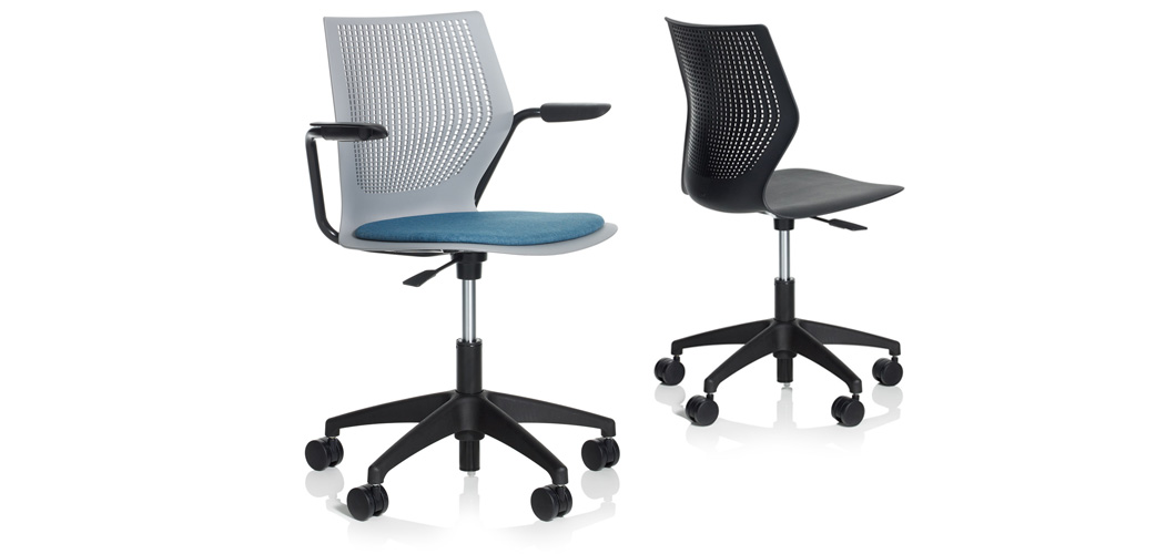 MultiGeneration by Knoll Light Task Multipurpose Plastic Office Swivel Chair