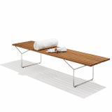 KnollStudio Teak Wood Bertoia Bench Side