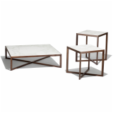 Krusin Side Tables with Calacatta marble