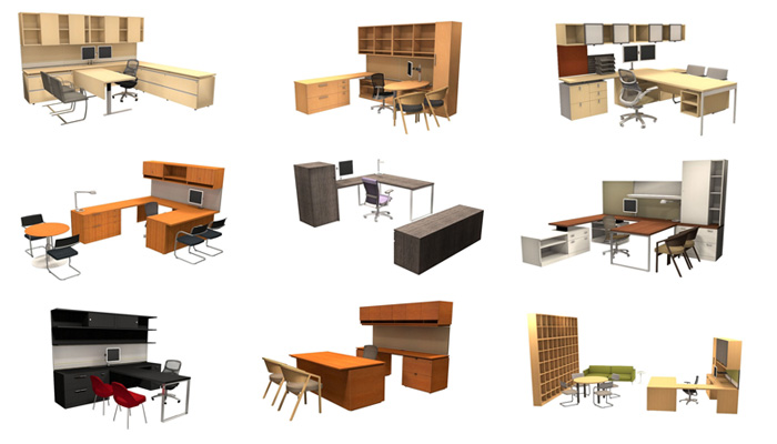 Private office design and planning knoll for Office desk layout planner