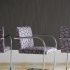 Arrondissement upholstered on BRNO Chairs and Grand Boulevard Wallcovering