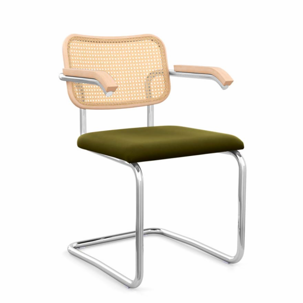 Cesca<sup>™</sup> Chair - Arm Chair with Upholstered Seat & Cane Back