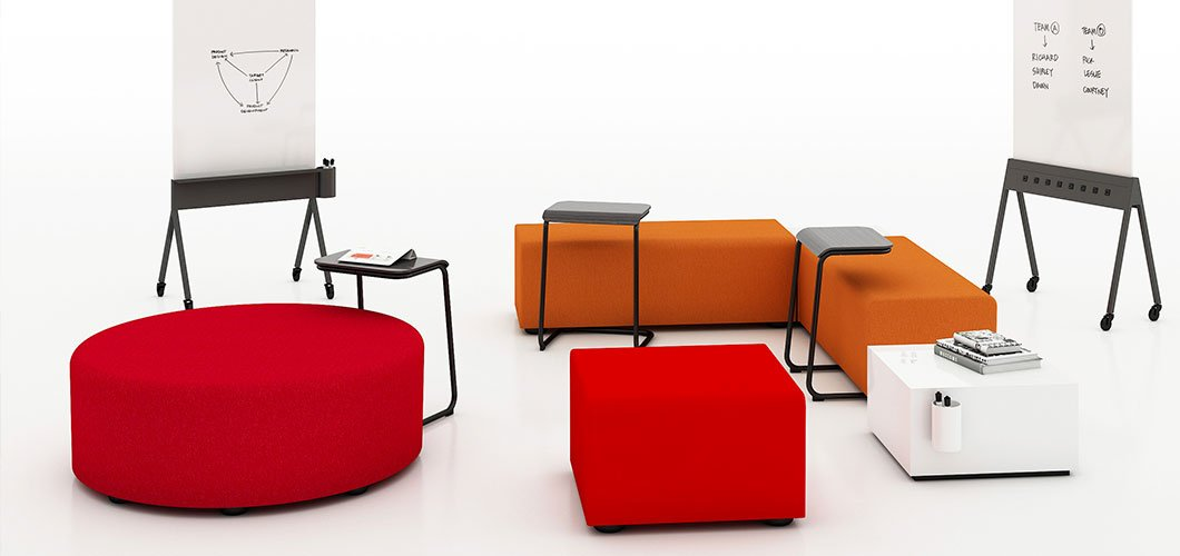 k. lounge plannable modular lounge system by Knoll