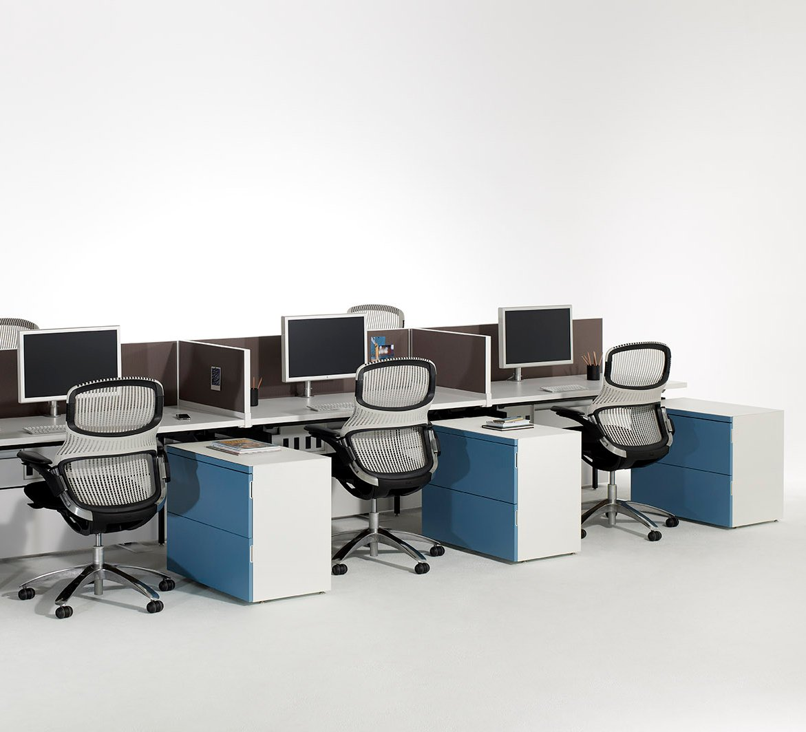 Antenna Workspaces with Generation by Knoll Task Seating Storage Sapper Single Monitor Fence