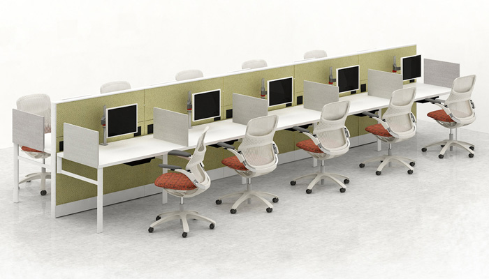 Knoll systems and KnollExtra® products create efficient <strong>technology-ready workspaces</strong> to accommodate today