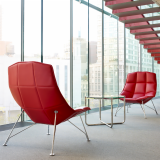 Jehs+Laub Lounge Chair in red with MR Table