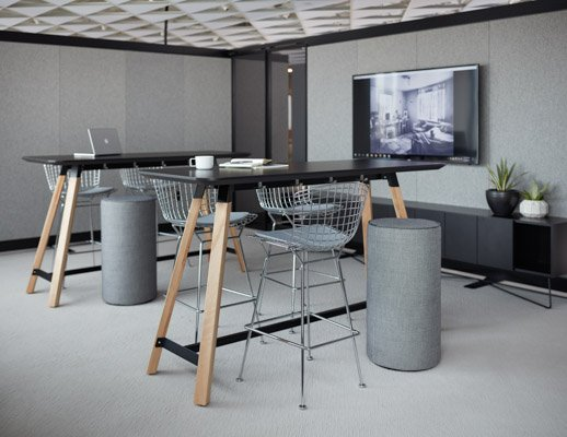 Rockwell Unscripted Tall Tables | Knoll