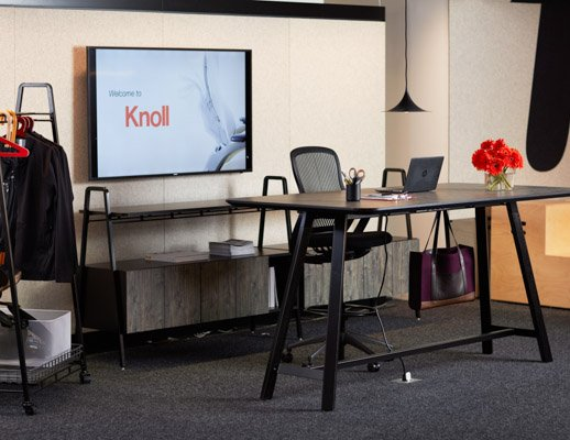 Rockwell Unscripted Credenza And Console Knoll