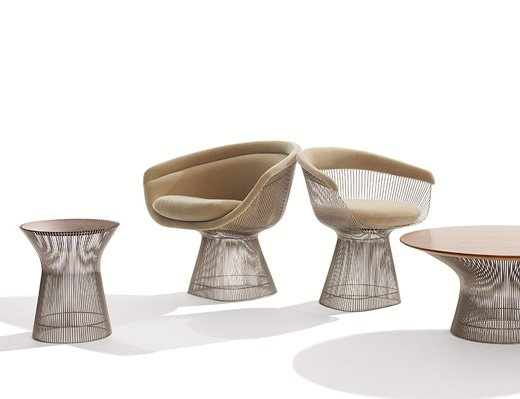 Platner Collection featuring Lounge Chairs, Tables and Dining Chairs
