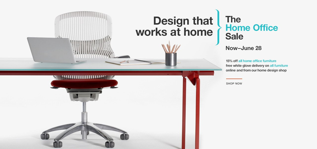 The Knoll Home Office Sale. Now–June 28