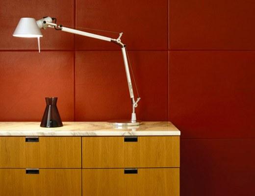 Florence Knoll Credenza, Tolomeo Lamp
