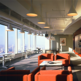 Pfister Lounge Seating and Bertoia Side Chairs