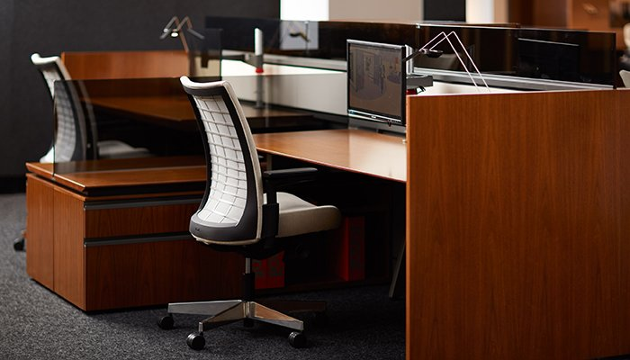 Remix® Task Chairs, AutoStrada Workstations, Sparrow Lights™ and Sapper Monitor Arms