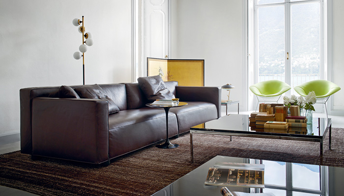Barber Osgerby Sofa, Florence Knoll Table, Saarinen Side Table, Bertoia Diamond Chairs