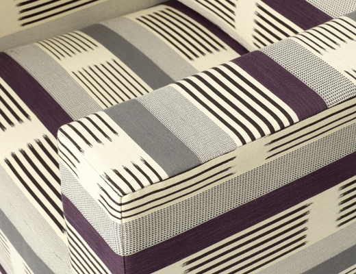KnollTextiles Ikat Stripe upholstery by Dorothy Cosonas