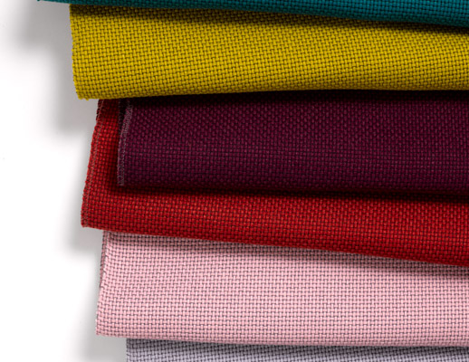 KnollTextiles The Legacy Collection Uni-Form Polyester Post Consumer Recycled Polyester Brown White Blue Green Red Pink Violet Gray Yellow Made in the USA