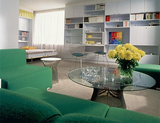 Platner Tables and Bertoia Chairs