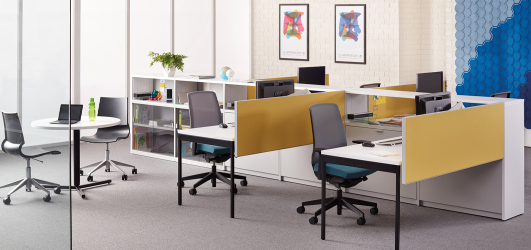 Template Open Plan  and Private Office Storage System Knoll