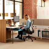 focused individual workspaces open plan power electric