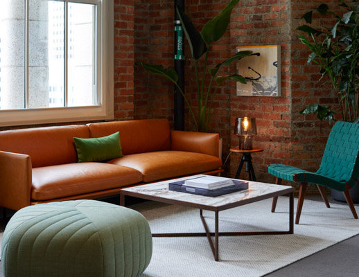 risom lounge chair krusin coffee table marble muuto pouf outline sofa cosy table lamp san francisco showroom