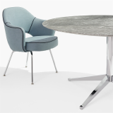 KnollStudio Gray Marble Florence Knoll Table