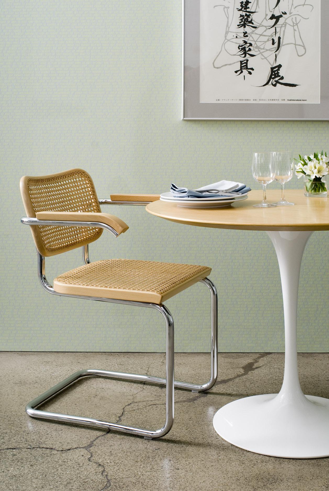 Breuer chair cane - Cesca Chair With Saarinen Table