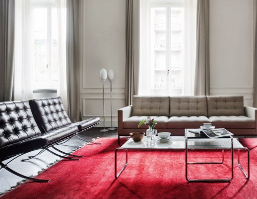 barcelona relaxed chair florence knoll sofa laccio table living room mies van der rohe florence knoll marcel breuer saarinen side table