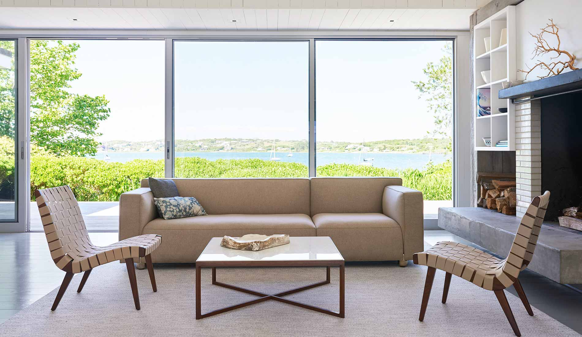Knoll Living Room with Barber Osgerby Sofa and Risom Lounge