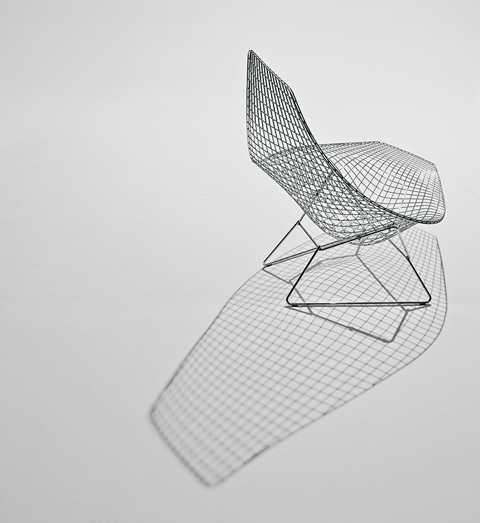 Knoll for Bertoia asymmetric chaise