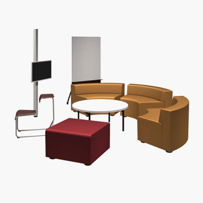 Knoll 3D Furniture Symbols