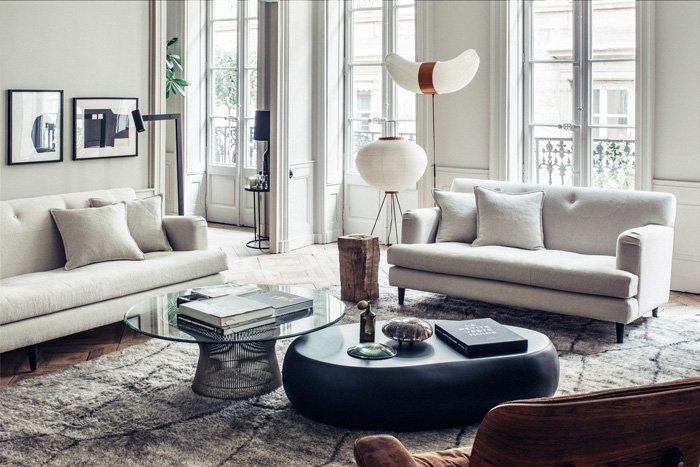For their lyon based studio and boutique maison hand interior designers pierre emmanuel martin and stéphane garotin outfitted a bare loft as if it were a