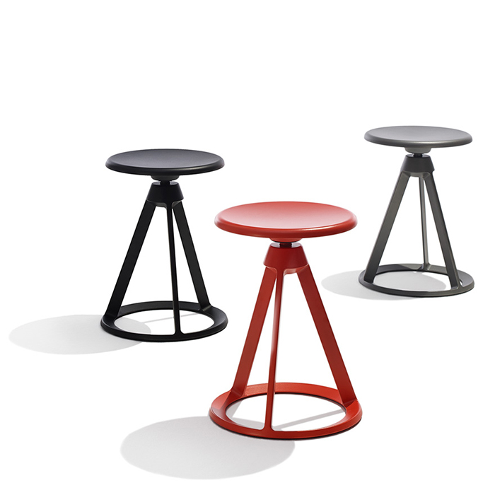 Barber Osgerby's Piton™ Adjustable Height Stools for Knoll, 2015 | Knoll Inspiration