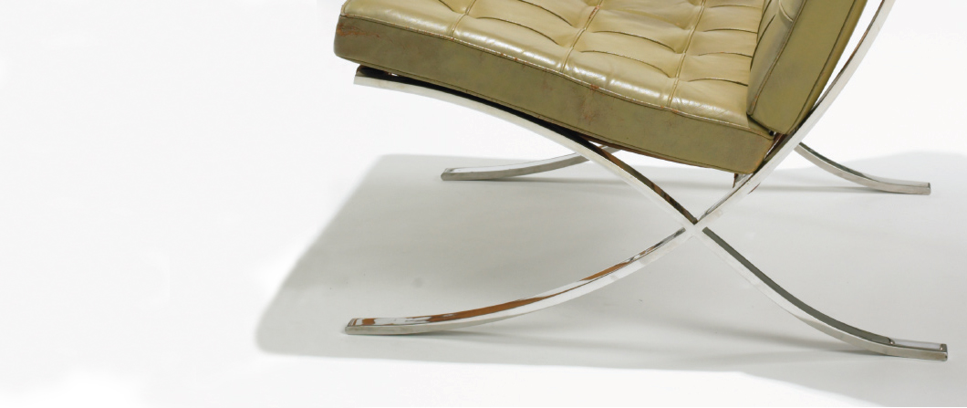 barcelona chair as manufactured by jerry griffith pc wright knoll