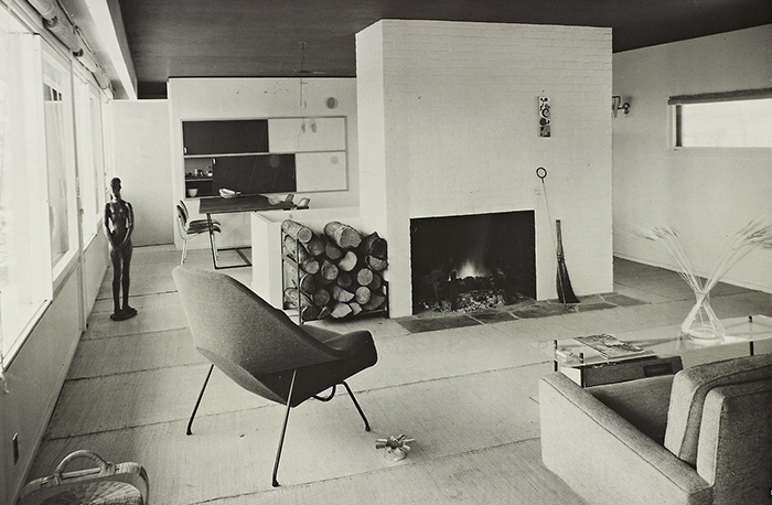 Marcel Breuer's Stillman House in Litchfield, Connecticut, 1951 | Womb Chair | Knoll Inspiration