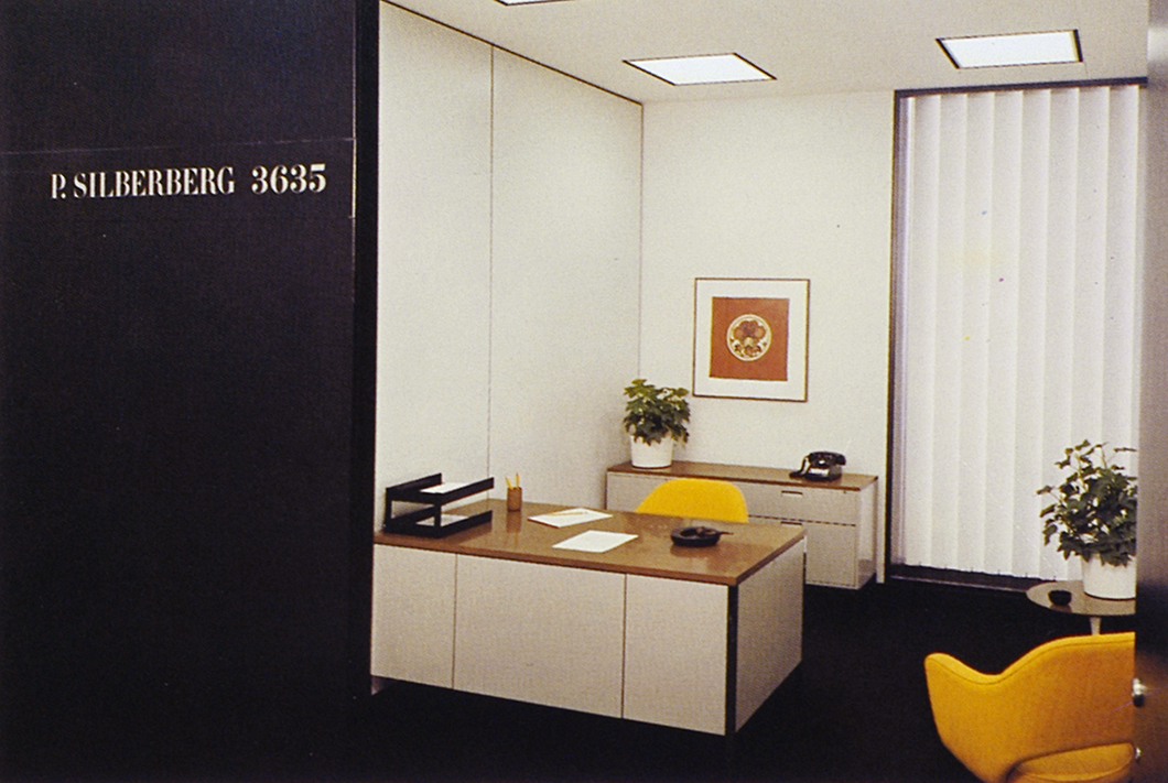 P. Silberberg's office at the CBS Building, designed by Florence Knoll | PC: Knoll Archive | Knoll Inspiration
