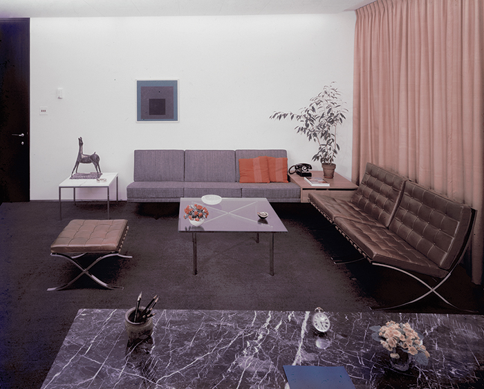 Reception room at CBS Building, designed by Florence Knoll, c. 1965 | PC: Knoll Archive | Knoll Inspiration