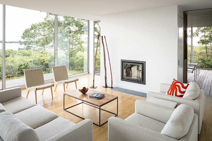 Jens Risom Lounge Chairs in Casco Bay Living Room, Designed by Carol Wilson