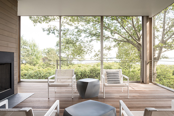 Richard Schultz 1966 Lounge Chairs on a Casco Bay Patio, Designed by Carol Wilson