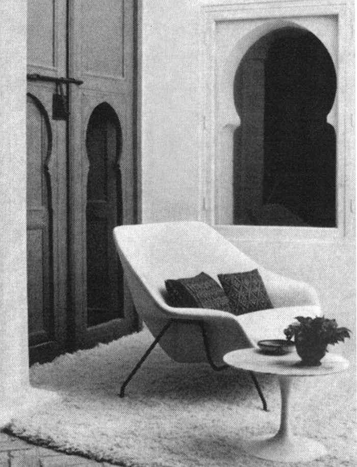 Womb Settee in situ at Yves Vidal and Charles Sévigny's home in Tangier, Morocco | Knoll Inspiration