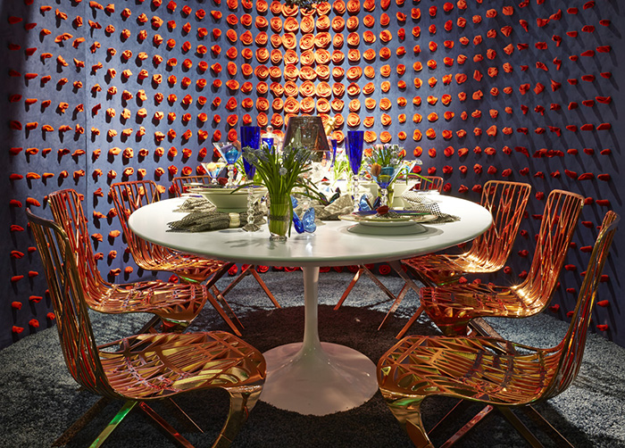 DIFFA Dining by Design featuring Saarinen Dining Table and Washington Skeleton Chair ​by HOK, 2014.