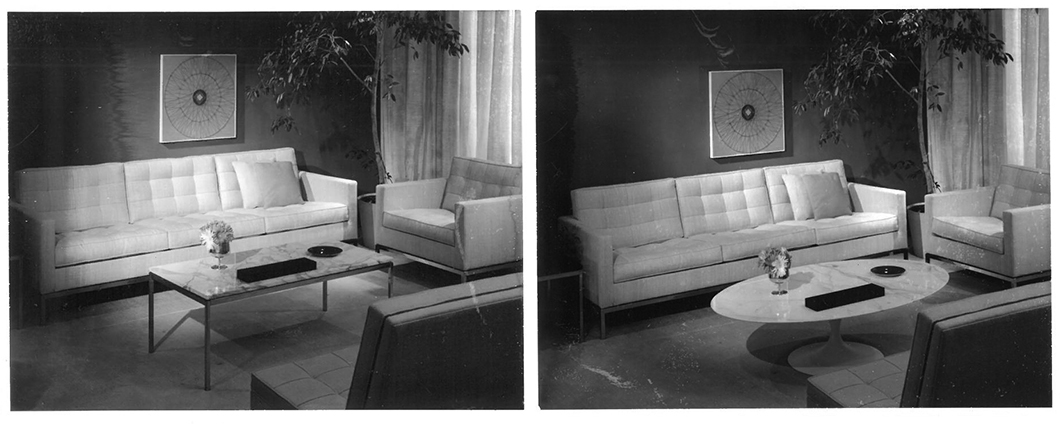 Edited contact sheets for a Knoll advertisement by Herbert Matter | PC: Knoll Archive | Knoll Inspiration