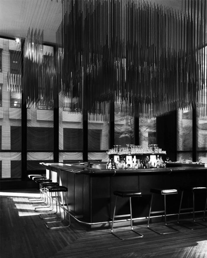 Four Seasons Barstools surround The Front Bar at The Four Seasons Restaurant | PC: Jennifer Calais Smith | Knoll Inspiration