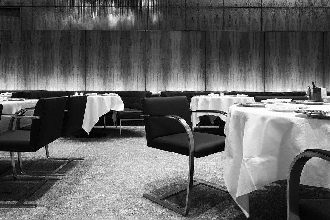 Custom Brno Chairs designed for The Pool Room at The Four Seasons Restaurant | PC: Wright | Knoll Inspiration