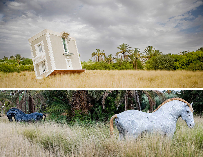 Jean-François Fourtou's sculptures in Marrakech, Morocco | Knoll Inspiration