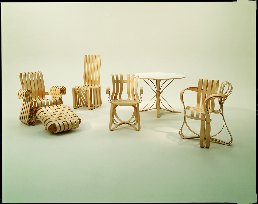 The Bentwood Collection by Frank Gehry, 1992 | PC: Knoll Archive | In Conversation with Paul Goldberger | Knoll Inspiration
