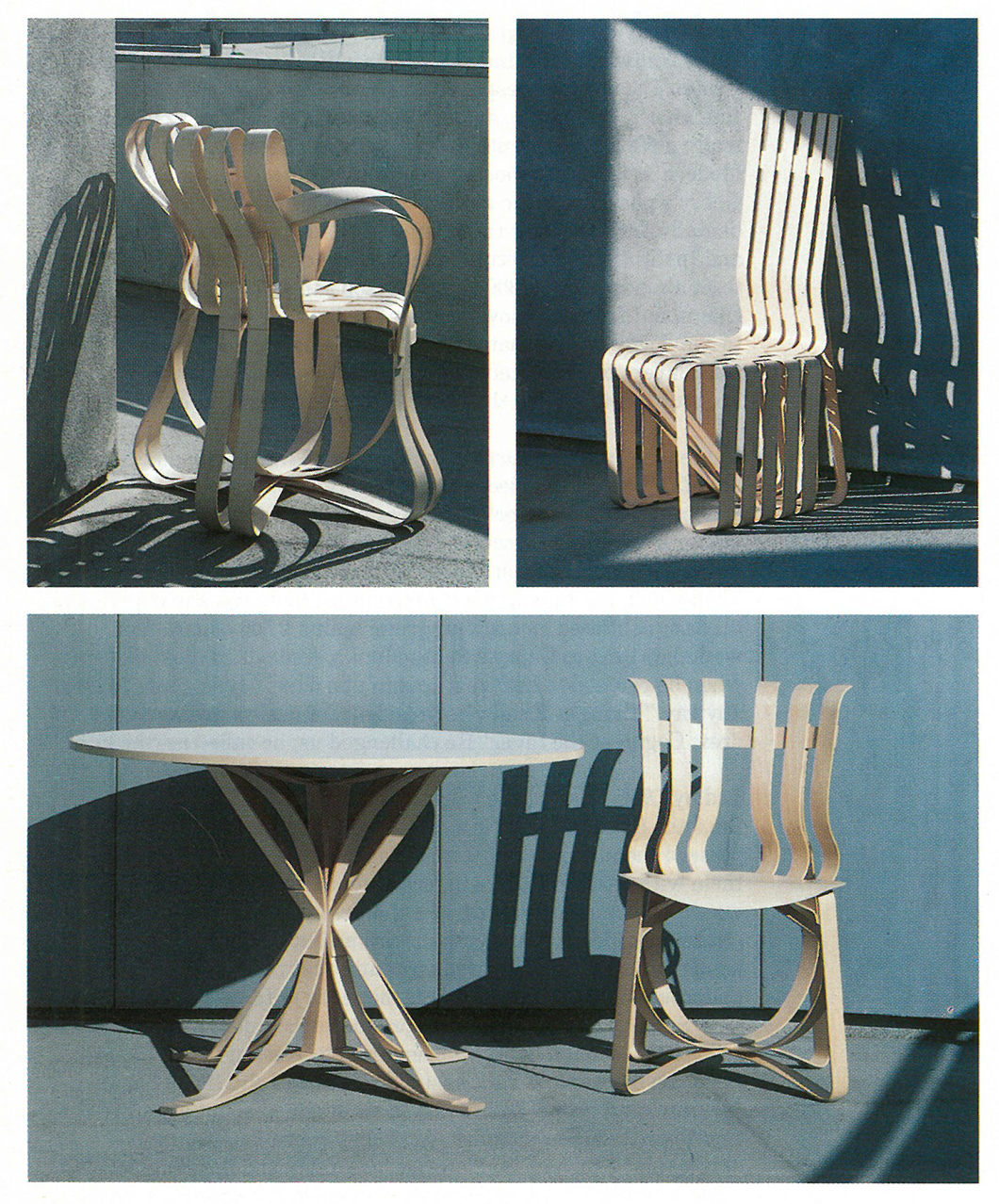 The Bentwood Collection by Frank Gehry, 1992 | In Conversation with Paul Goldberger | PC: Knoll Archive | Knoll Inspiration