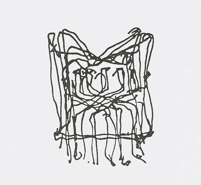 Frank Gehry's sketch for the Cross Check™ Chair | In Conversation with Paul Goldberger | Knoll Inspiration