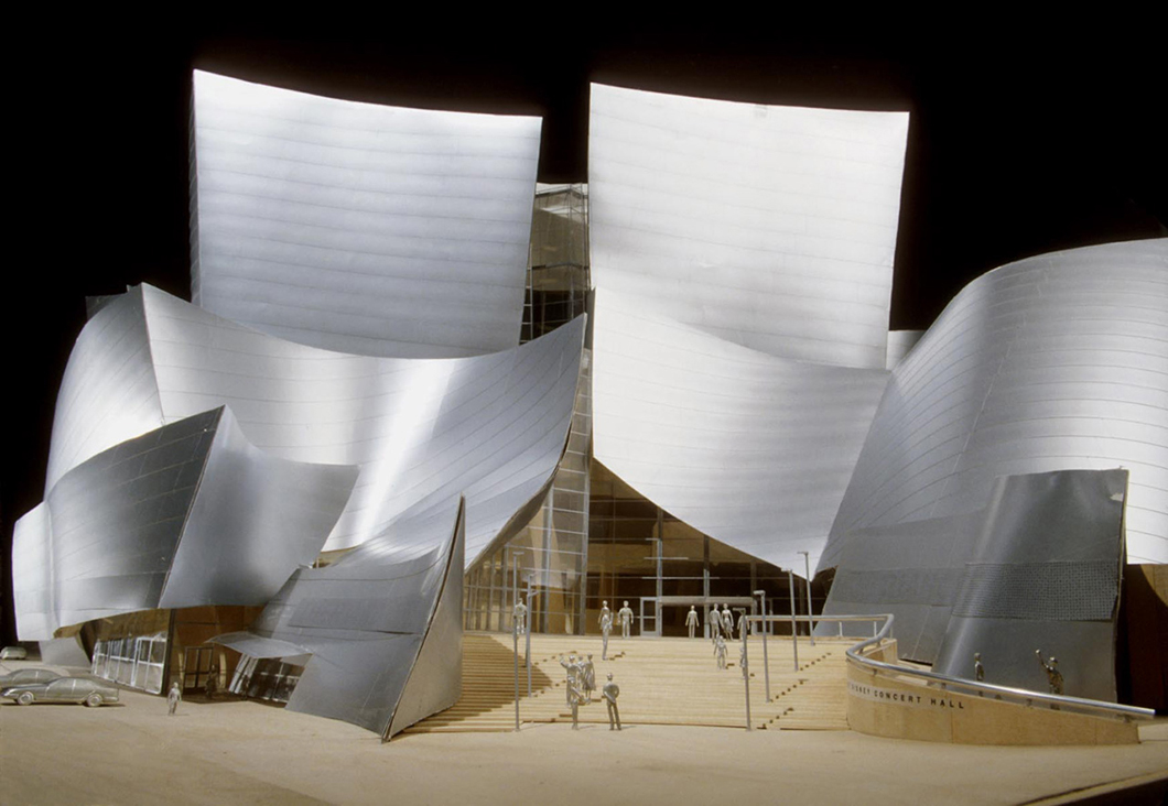 Model for Walt Disney Concert Hall by Frank Gehry | In Conversation with Paul Goldberger | PC: Gehry Partners | Knoll Inspiration