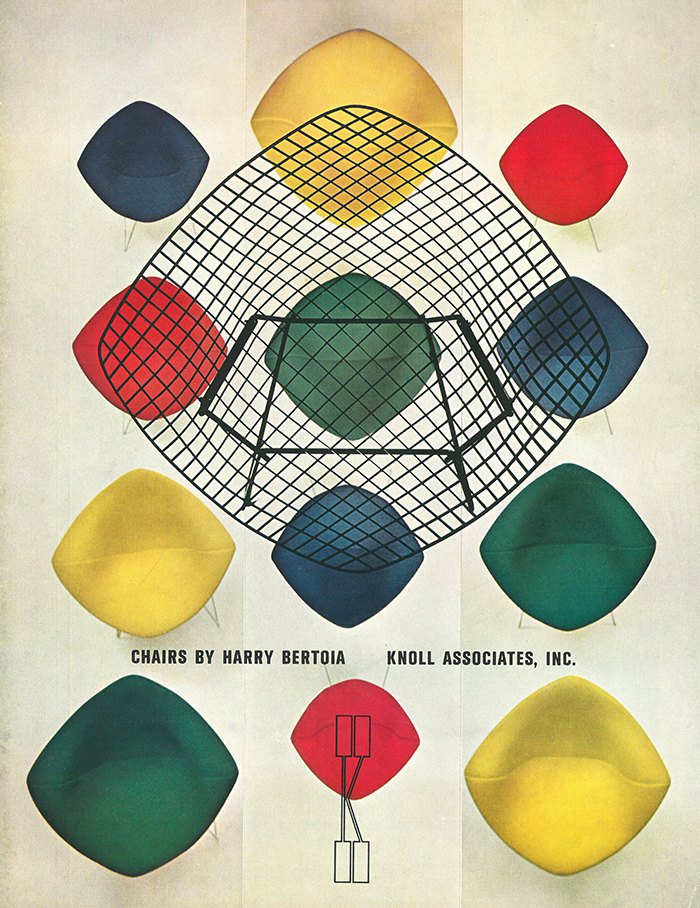 Herbert Matter graphic advertising the Bertoia Diamond Chair by Harry Bertoia | PC: Herbert Matter | Knoll Inspiration