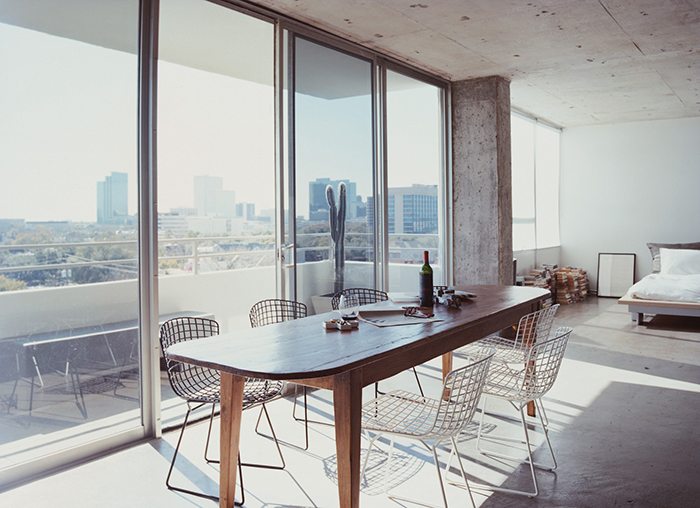 Barbara Hill's Dining Room with Harry Bertoia Side Chairs